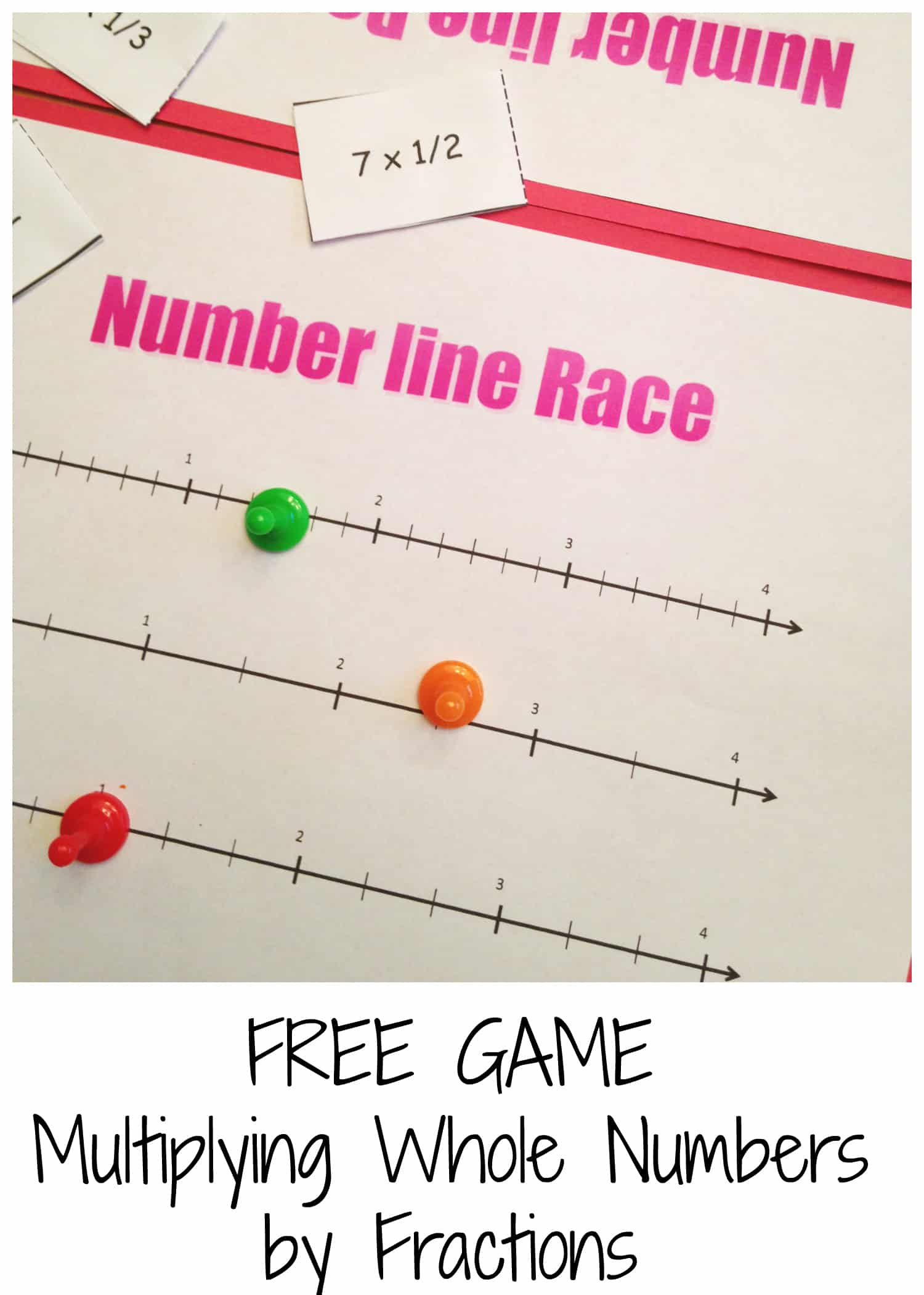 Drawing Number Lines With Fractions : Multiplying fractions on a number line game