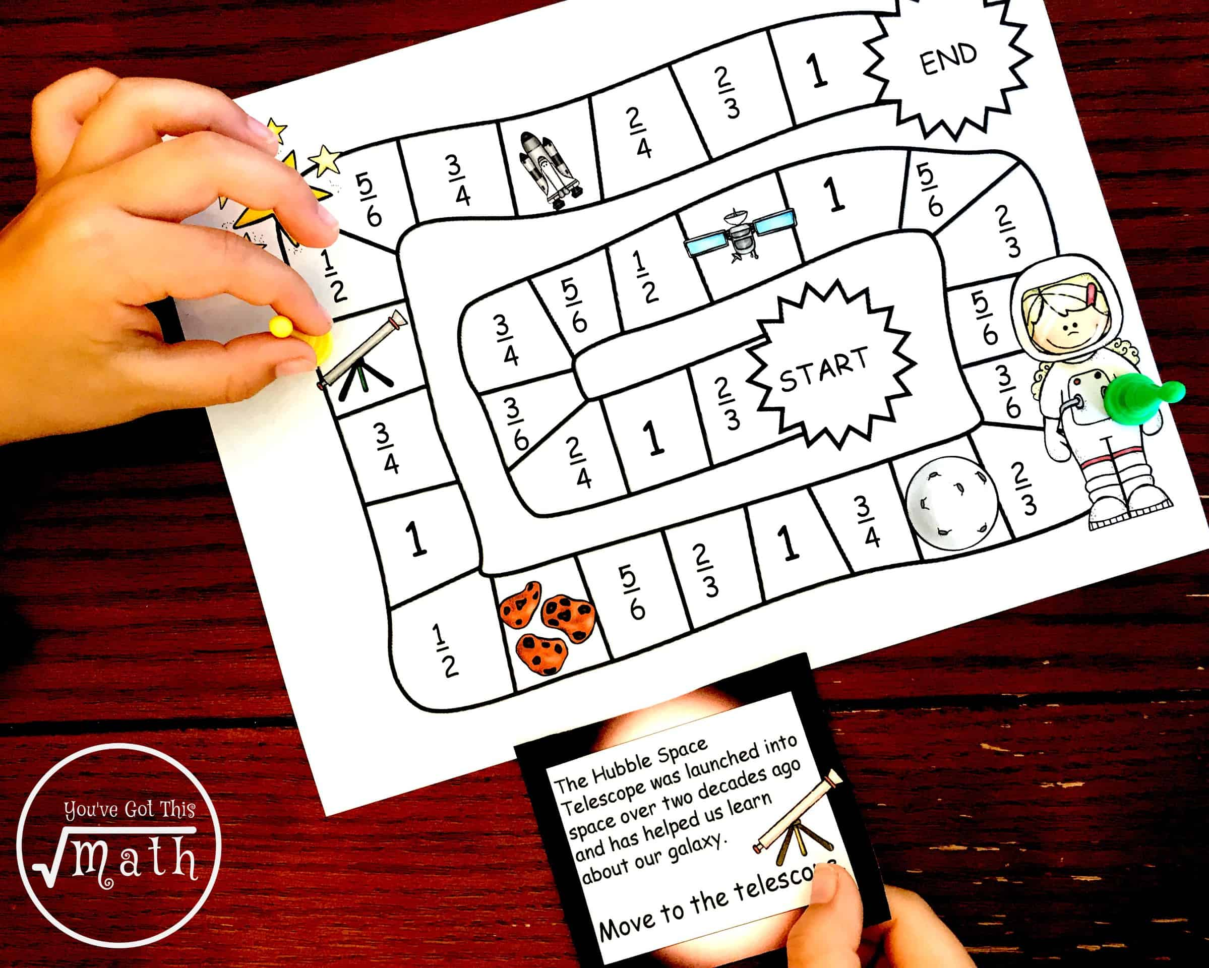 Grab Free Adding Fractions Activity With A Fun Space Theme