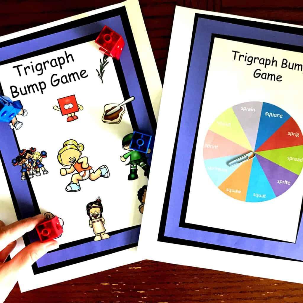 Three Free No Prep Consonant Cluster Games Trigraphs